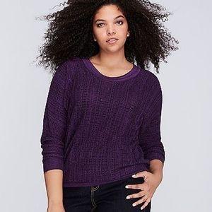 Lane Bryant Marled Dolman Sweater Purple 18 / 20